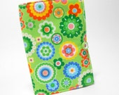 Bright Green Mini List Taker,  Green Modern Floral List Taker with Notepad and Pen, Small Shopper
