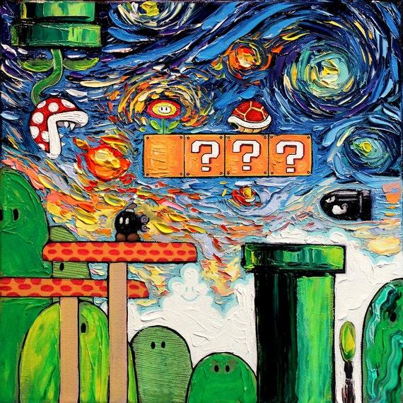 ゴッホ 星月夜 マリオ