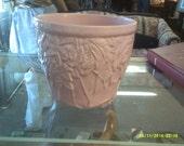 Pink McCoy planter vase roses