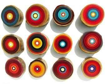 Large object art, Wood Art, Modern Home Art, Large Modern Art on Reclaimed Wood in Reds - Original Art by Tracy Melton