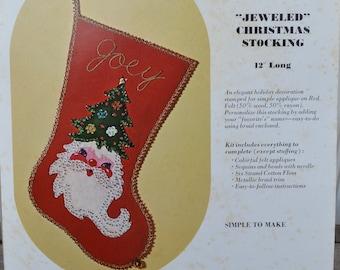 Christmas Stocking Kit - Felt- New - Santa - Royal Hill Vintage