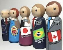 "Missionary Buddies- LDS Mormon Missionaries Sister or Elder 3.5"" doll"