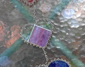 Final Payment of Two sets of Stained Glass Heart Suncatchers