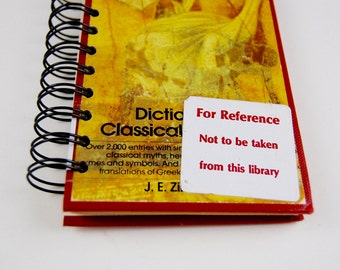 Dictionary of Classical Mythology- Recycled Book Journal, Notebook, Sketchbook, made from altered book