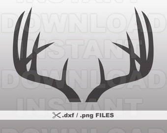 Deer Antlers DXF File - Deer Antlers PNG File - Commercial & Personal Use- png file,dxf file for Cricut,dxf file for Silhouette,vinyl