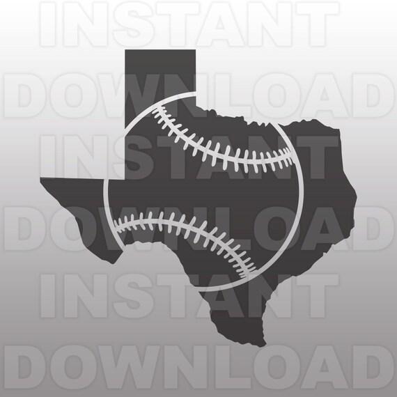 Texas Baseball Outline Svg Filetexas Baseball Svg Cutting