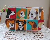 Dogs and Doggies Clutch Bag, Wristlet, Zipper Camera Bag Pouch, Smart Phone Bag