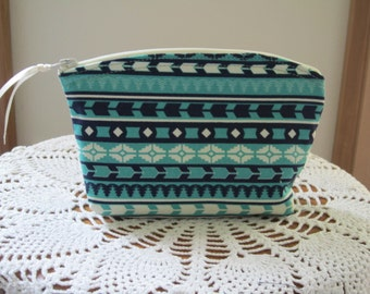 Aztec Tribal Bohemian Cosmetic Bag Clutch Purse Essentail Oils Case  Bridal Bridesmaid Gift
