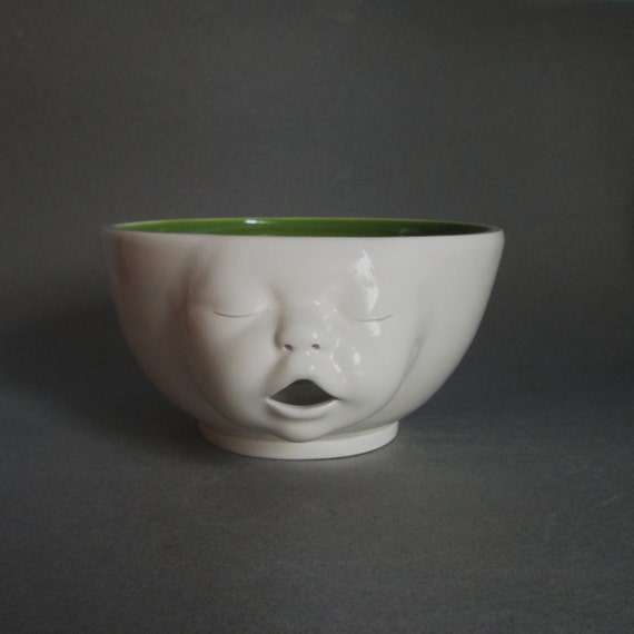 Knitting Bowl Face : Yarn bowl baby face ready to ship