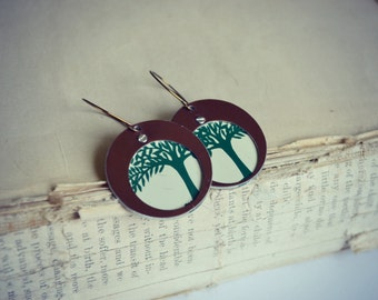 Harbinger Collection Riveted Tin Tree Earrings