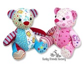 Melody MEMORY BEAR Keepsake Toy Instant Download Sewing Pattern PDF