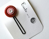 Cute as a Button--Red and Pink Vintage Button Hair Pin