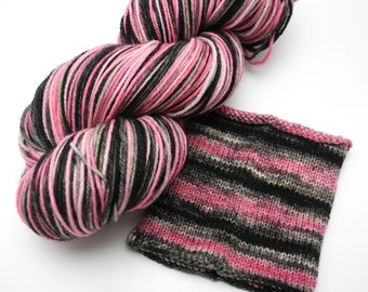 Paris At Last Watercolor Stripes Pop Culture Yarn -- Dyed to Order Self Striping Hand Dyed Targhee Sock Yarn