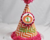 Little Pumpkin 1st Birthday Party Hat- Personalized Baby Girl