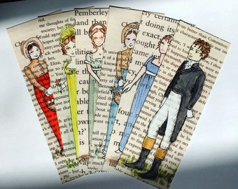 Jane Austen Art Bookmarks - 10 sets of 6
