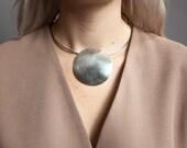 super collider geometric choker necklace / pendant collar / minimalist choker / 839a