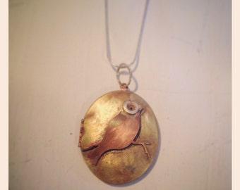 Bird on a wire locket