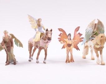 Schliech Fantasy Figures On Enchanted Horses Bayala Faries Fairy Horses Set of 6 ~ Pink Room ~ 160918