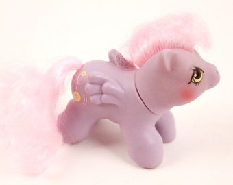Vintage My Little Pony G1 Baby Yo Yo Pegasus Newborn, Purple Pegasus with Pink Hair, 1987 ~ The Pink Room ~ 170221