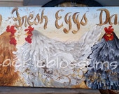 """Chicken Signs Personalized 11"""" x 24"""""""