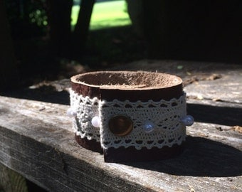 Leather and Lace Cuff