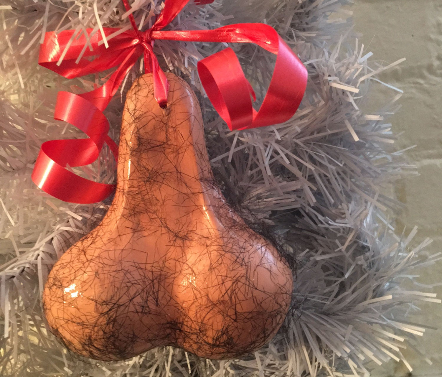 Hairy little balls decorative ornament
