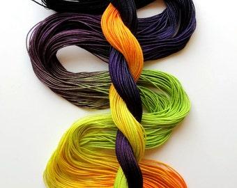 "Size 10 ""Spooky"" hand dyed thread 6 cord cordonnet tatting crochet cotton"