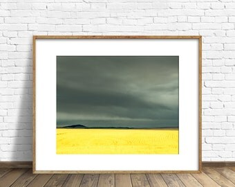 STUDIO SALE - 50% off, matted prints, matted photography, landscape, landscape photography, wheat fields, art print, wall art, storm, gray