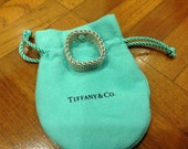 Tiffany and Co. Somerset Mesh Ring RARE Large Size