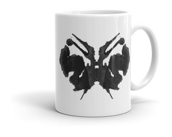 Ink Blot Art Mug Inspired by the Rorschach Psychological Test 27