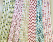 Weaving Star Paper~ Scandinavian Prints (50 strips)