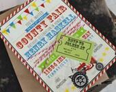 County Fair Birthday Party Invitation - Design Fee