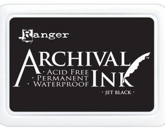 Ranger Archival Ink Pads Jet Black Stamp pad