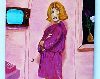 Paris Texas 8x10 acrylic painting inspired by the movie