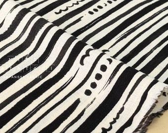 Japanese Fabric Kokka stripes and dots gauze - C - 50cm