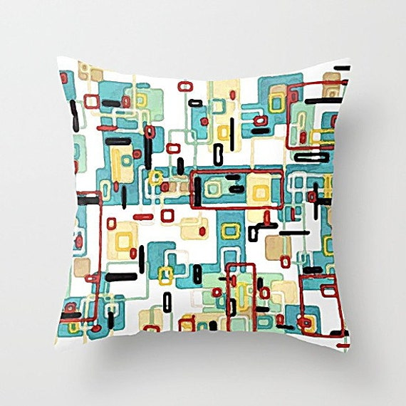 Mid Century Modern Pillow Covers : Mid Century Modern Throw Pillow Cover Modern Pillow by TinaCarroll