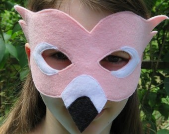 Pink Flamingo Mask - Bird Mask - Bird Costume - Masquerade - Party Mask - Dress Up