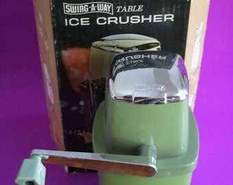 VINTAGE Swing A Way table ICE CRUSHER
