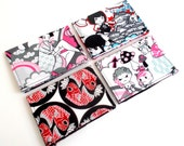 Four Business Card or Gift Card Holders. Anime Card Holders. Fun Stocking Stuffers. (NEW ITEM)