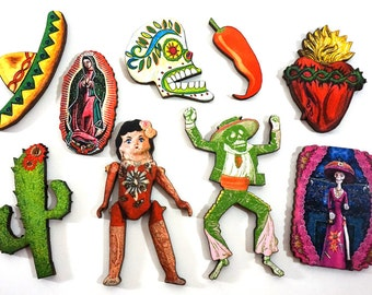 Viva Mexico Wooden Collection - 9 Laser cut Craft Pieces
