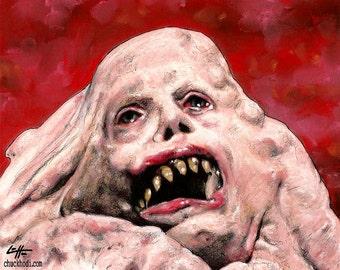 Print 8x10 - Basket Case - Belial Dark Art Horror Cult Classic Comedy 80s Siamese Twin Monster Pop Art Lowbrow Halloween Scary Creature lol