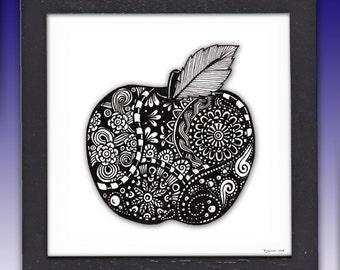 Framed Apple Print