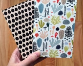 Pocket Notebook 2-pack Underwater and Dots