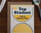 letterpress top student you've graduated instant soup greeting card ramen lover congrats wishing you instant success