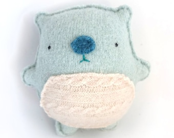 Baby Blue Hamster - Recycled Cashmere Sweater Plush Toy