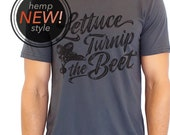 ORGANIC lettuce turnip the beet ® trademark brand official site - grey hemp and organic cotton shirt with new logo - M through 3XL