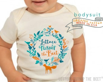 SALE lettuce turnip the beet ® trademark brand OFFICIAL SITE - organic undyed cotton - short sleeve bodysuit - eco-friendly