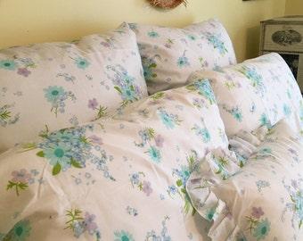 sale vintage bedding ensemble duvet cover euro shams pillow cases accent pillow