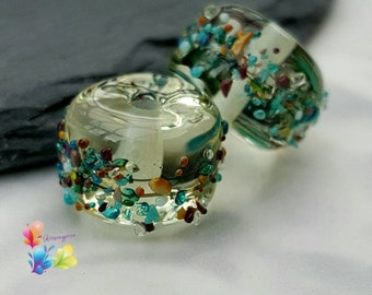 Lampwork Beads Beachcomber Flax Pair Limited Edition