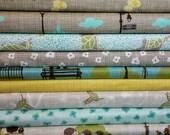 Bluebird Park Fat Quarter Bundle by Kate & Birdie - Moda Fabrics 9 fat quarters